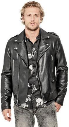bac680e22c47 GUESS Men s All Aces Moto Jacket