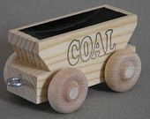 Wood Toy Train Coal Car