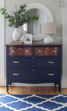 vintage dresser before and after makeover, painted furniture
