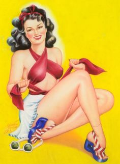 Cardwell Higgins pin up girl Pin Up Vintage, Gil Elvgren, Stars D'hollywood, Earl Moran, All American Girl, Calendar Girls, Photo Pin, Pin Up Art, Cultura Pop