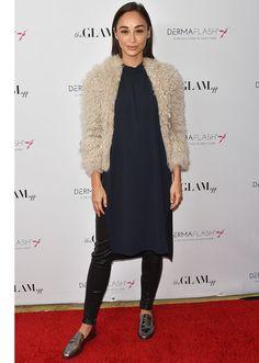 STYLECASTER | 17 Celebrities Who Wore A Dress Over Pants | Cara Santana