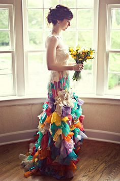 Unique Wai Ching Wedding Dresses: Colorful, Creative