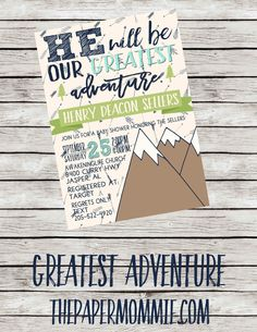 Greatest Adventure Baby Shower Invitation by ThePaperMommie on Etsy