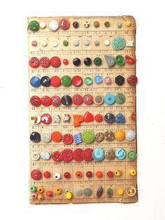 Antique Art Deco Modern Bakelite Button Collection Salesman's Sample Couture 100