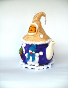 Crochet Fairy, Crochet Home, Cosy Christmas, Christmas Toys, Tea Warmer, Fairytale House, Crochet Snowman, Tea Cosies, Tea Cozy