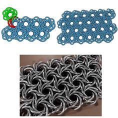Wow, this is a crazy swirling weave - called Moorish Rose found on M.A.I.L (Maille Artisans International League)