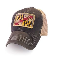 379ad9d193e The Maryland State flag trucker cap in a vintage