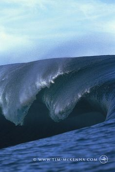 A tubing wave at Teahupoo in Tahiti.