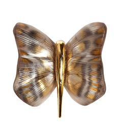 Amber/Gold Papillion Pin