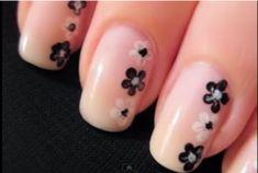 Nail Art Design For Short Nails Flower-nail-art