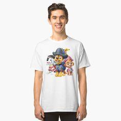 'Paw Patrol fun' Classic T-Shirt by StefaniaAlina Paw Patrol, Classic T Shirts, Art Prints, Printed, Awesome, Fun, Mens Tops, Gifts, Shopping