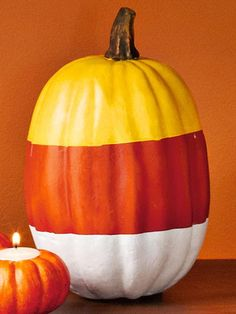 A candy corn pumpkin!