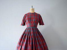 1950s plaid dress . vintage 50s dress . xs by BlueFennel on Etsy https://www.etsy.com/listing/217244363/1950s-plaid-dress-vintage-50s-dress-xs