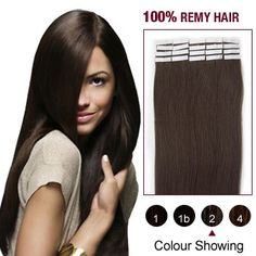 20pcs Remy Tape 24inches Human Hair Extensions #02