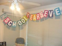 LOVE this idea! We should throw a party the day before the last day of the school year. :) The kids would love it. <3