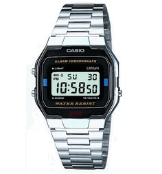 Casio Retro Silver Classic Digital Watch A163WA-1QES A real classic Casio timepiece, this silver digital watch come with a black dial for a casual yet classic look. It also features Stopwatch and Daily Alarm. http://www.MightGet.com/may-2017-1/casio-retro-silver-classic-digital-watch-a163wa-1qes.asp
