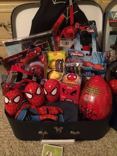 Spiderman easter basket easter crafts pinterest easter spider man themed easter basket for my godson 2014 negle Choice Image