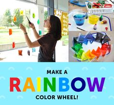 Create your very own rainbow. This art project gives your kids a fun and brilliant intro to basic color theory.