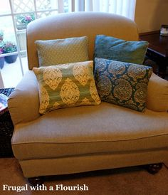 DIY pillows from fabric samples