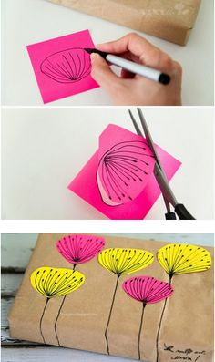 Wat je al niet kan doen met post-its! http://www.lefrufru.com/2013/10/decorare-con-i-post-it.html