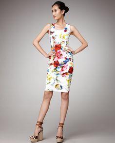 Floral Sheath Dress - Lyst