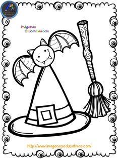 Librito para colorear en HALLOWEEN - Imagenes Educativas Moldes Halloween, Manualidades Halloween, Adornos Halloween, Halloween 6, Easy Halloween Crafts, Halloween Books, Halloween Decorations, Halloween Costumes, Pattern Coloring Pages