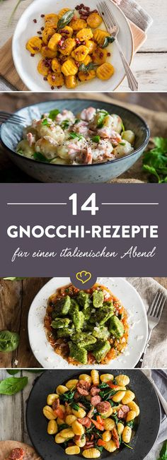 Gnocchi recipes: 14 times Italy flair for your evening - Gnotschi? No matter how the Italian mini potato dumplings are pronounced, with t - Gnocchi Recipes, Pasta Recipes, Cooking Recipes, Veggie Recipes, Vegetarian Recipes, Healthy Recipes, Dumplings, Soul Food, Food Inspiration