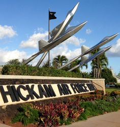 Hickam Air Force Base Hawaii. Dad was stationed here 1970's.  We were blessed to welcome back the Vietnam POWS & MIA's after the war ended and they were released.