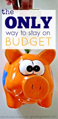 Do this one simple thing and stay on budget at last! www.growingslower.com #budgetbasics #frugalliving