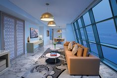 """50 Cent and Bill Clinton are among the celebrities who have stayed at Jumeirah at Etihad Towers in Abu Dhabi. This luxurious hotel is home to opulent suites with Italian marble and floor-to-ceiling windows and even made an appearance in """"The Fast and The Furious 7."""""""