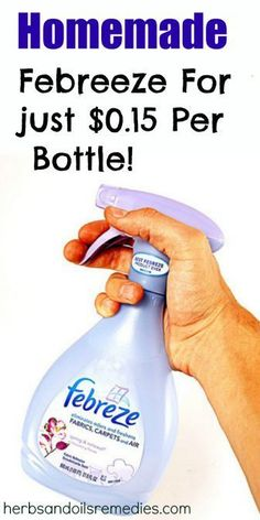 Here's a really great recipe for homemade air freshener like Febreze to replace those spendy Febreze bottles. When it comes to making your house smell go