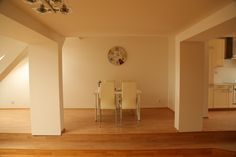 Nice dining space in one of our new apartments for sale in Prague 2