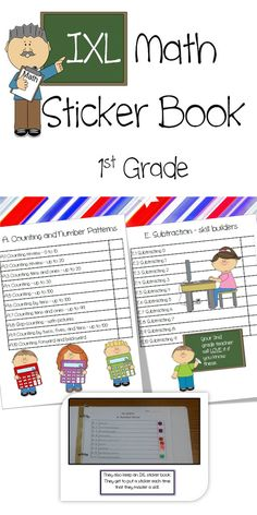 Do your students use IXL? My kids love IXL. I created a sticker book for students to put stickers next to each skill after it is mastered. What kid doesn't love stickers? This one is made for 1st grade. I also have IXL Sticker Books made for 2nd grade, 3rd grade, and 4th grade. If you teach one of those grades, please check out my store.