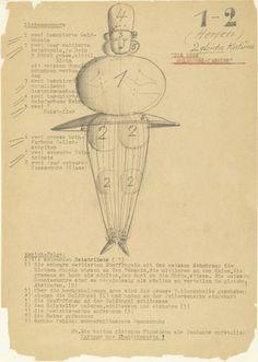 (1) Bauhaus - Oskar Schlemmer (1888-1943) Two gold Ball Dancer - Triadic Ballet