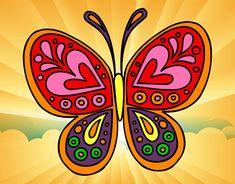 Dibujo Mandala mariposa pintado por ysaida