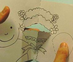 Massimo Missiroli , ingeniero de papel italiano , nos muestra en su sitio web cómo hacer  una amorosa tarjeta pop-up  de Feliz Día de las ...