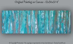 Office decor Large aqua teal abstract art print by ArtFromDenise