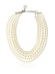 60% OFF Ben-Amun 5-Layer Glass Pearl Necklace