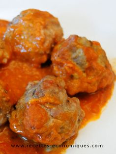 Boulettes de viande à l'italienne Cook N, No Cook Meals, Albondigas, Tapenade, Tandoori Chicken, Meat Recipes, Sauce Tomate, Food And Drink, Yummy Food