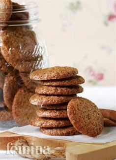 Coconut Cookies, Yummy Cookies, Cake Cookies, Cinnamon Cookies, Indonesian Food, Biscuit Recipe, Cookie Recipes, Bakery, Food And Drink
