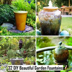 DIY Beautiful Garden Fountains by Kim Paige Outdoor Projects, Garden Projects, Outdoor Ideas, Garden Ideas, Outdoor Stuff, Outdoor Life, Outdoor Rooms, Outdoor Living, Diy Projects