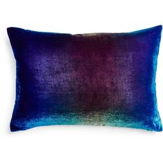 Kevin O'Brien Ombre Velvet Pillow ($226) ❤ liked on Polyvore featuring home, home decor, throw pillows, pillows, blue, purple, traditional home decor, blue velvet throw pillows, kevin o'brien and purple home decor
