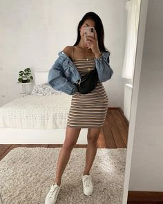 Cool Summer Outfits, Summer Outfits Women, Teen Fashion Outfits, Girly Outfits, Cute Casual Outfits, Spring Outfits, Fashion Models, Summer School Outfits, Outfit Summer