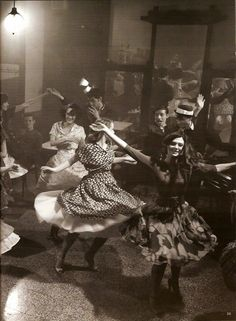 I want to wear a full skirt and go dancing. Editorial from Vogue Germany. Photo by Phil Poynter.