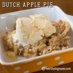 Dutch Apple Pie - Looks so good and I'm not usually a big fan of apple pie.