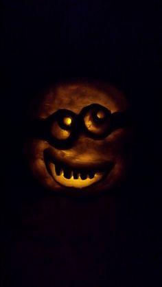Minion Jack o'lantern.   Mimi Smith 2014