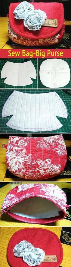 Sew Bag-Big Purse.  DIY tutorial with patterns. http://www.handmadiya.com/2012/04/blog-post_28.html