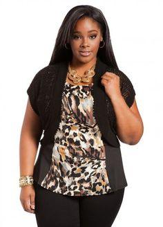 792ae51aecf Ashley Stewart Women s Plus Size Web Exclusive  Pointelle Flutter Trim Shrug