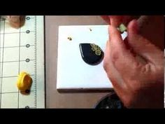Cameo style pendant yellow flowers - YouTube