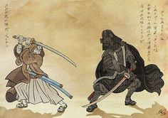 samurai star wars! so fucking cool. Actually, this would make or a very cool japanese style tattoo too